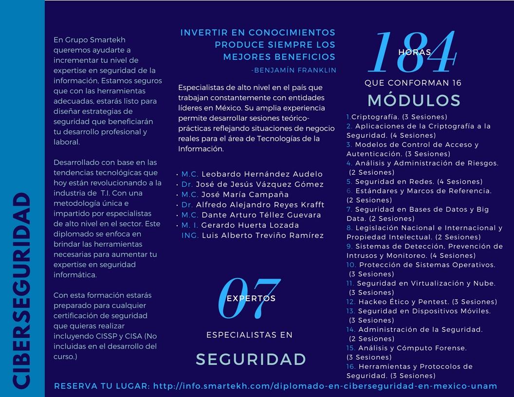 Diplomado de Ciberseguridad con la UNAM y Grupo Smartekh (1)